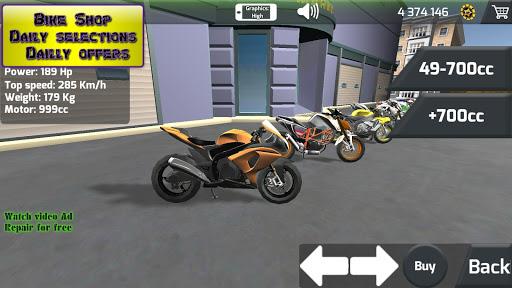 Motorbike  Online Drag Racing - Wheelie racing 3D screenshots 3