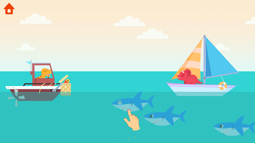 Dinosaur Patrol Boat - Coast Guard Games for kids apkmr screenshots 5