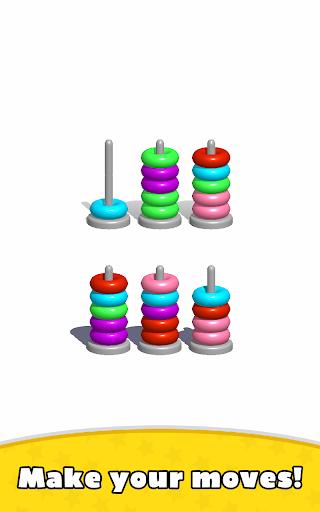 Sort Hoop Stack Color - 3D Color Sort Puzzle apkslow screenshots 12