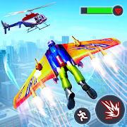 Flying Jetpack Hero Crime 3D Fighter Simulator