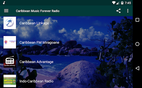 Caribbean Music Radio - Islands Music Screenshot