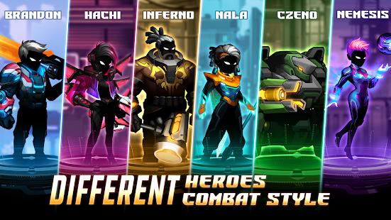 Cyber Fighters: Stickman Cyberpunk 2077 Action RPG - Screenshot 5