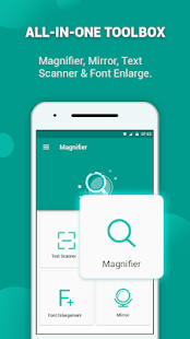 Magnifying Glass: Text Scanner & Mirror