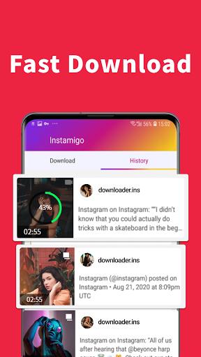 Video downloader for Instagram, Story saver apktram screenshots 3