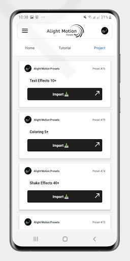 Alight Motion Presets 1.9 Screenshots 3