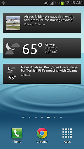 news & weather screenshot 1
