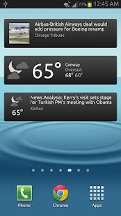 News & Weather Screenshot