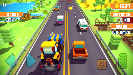Blocky Highway: Traffic Racing 1.2.3 Screenshots 10