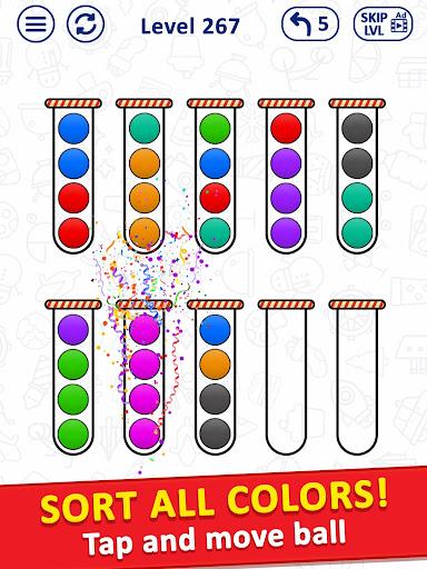 Ballu00a0Sort Puzzle - Bubble Sort Color Puzzle Game apkpoly screenshots 8