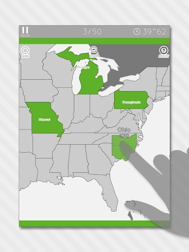 Enjoy Learning U.S. Map Puzzle 3.2.3 screenshots 6