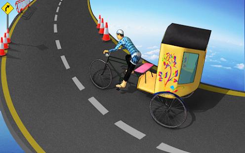 Bicycle Rickshaw Simulator 2019 : Taxi Game 4.0 Screenshots 7