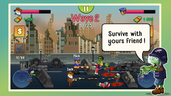 Two guys & Zombies (two-player game) 1.3.1 screenshots 1