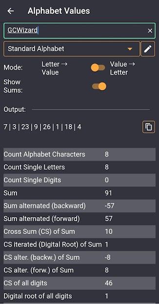 GC Wizard screenshot 3