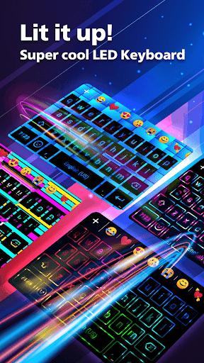 LED NEON Keyboard - Colorful, lighting, RGB, emoji  screenshots 1