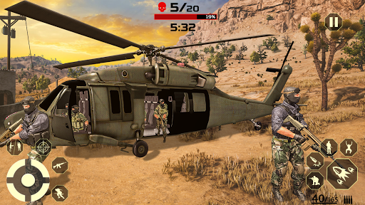 FPS Free Fire Game: New Gun Shooting Games Offline modavailable screenshots 2