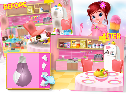 Princess House Cleanup For Girls: Keep Home Clean apkpoly screenshots 3