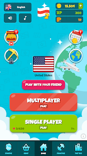 Flags of the World 2: Map - Geography Quiz 1.4.2 Screenshots 1