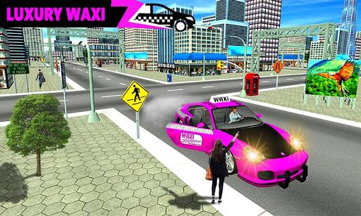 New York Taxi Duty Driver: Pink Taxi Games 2018  screenshots 8