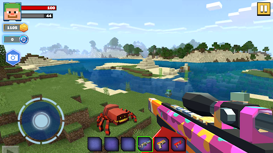 Fire Craft: 3D Pixel World Screenshot