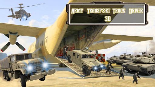 army transport truck driver 3d screenshot 1