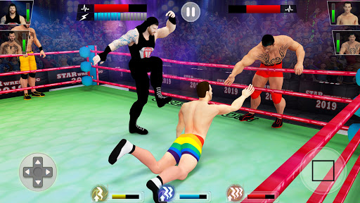 Tag Team Wrestling Games: Mega Cage Ring Fighting modavailable screenshots 1