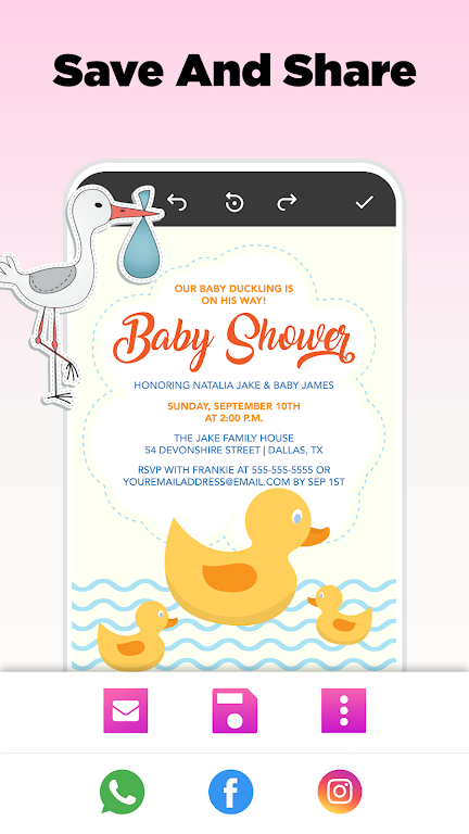 Invitation Maker - Birthday & Wedding Card Design poster 11