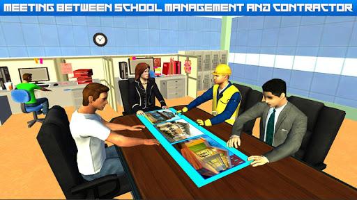 High School Building Design - Construction Games  screenshots 1