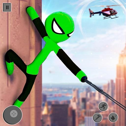 Flying Stickman Rope Hero 2021