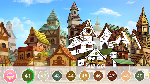 Fun Colorud83cudf08 Color By Number Pages Paint Happy apkslow screenshots 8
