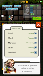 French Dungeon: Learn French Word 2
