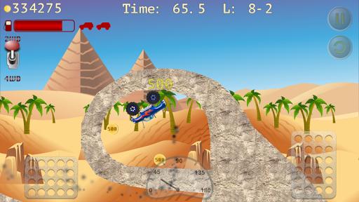 monster truck hill racer screenshot 1