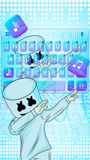 blues dj cool man keyboard theme screenshot 1