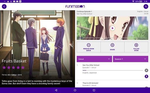 Funimation 3.1 Screenshots 5