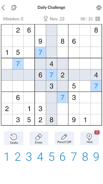 Sudoku - Free Classic Sudoku Puzzles Android App Screenshot