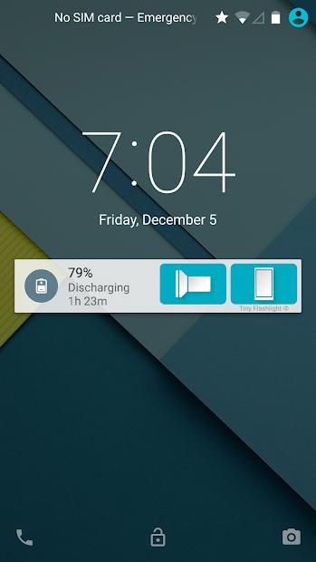 Captura 5 de Linterna - Tiny Flashlight ® para android