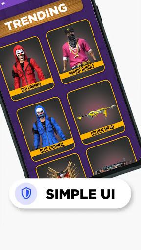 FFF: FF Skin Tool, Elite pass Bundles, Emote, skin android2mod screenshots 7