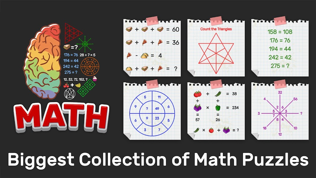 Brain Math: Puzzle Games, Riddles & Math games