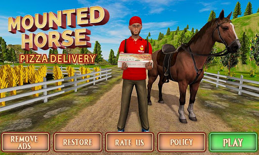 Mounted Horse Riding Pizza Guy: Food Delivery Game 1.0.3 screenshots 5