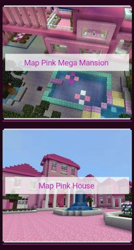 Pink house with furniture. Craft maps and mods 1.0.1 Screenshots 8