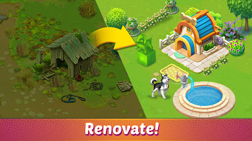 Solitaire Pet Haven - Relaxing Tripeaks Game apkpoly screenshots 1