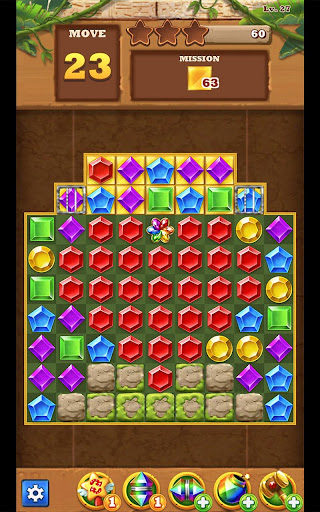 Jungle Gem Blast: Match 3 Jewel Crush Puzzles  screenshots 9