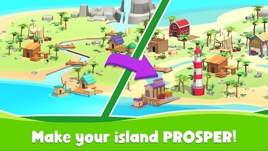 Idle Island Tycoon Mod Apk 1.7.1 (Unlimited Materials/Diamonds) 2