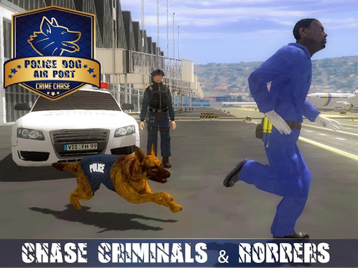 Police Dog Airport Crime Chase : Dog Games android2mod screenshots 1
