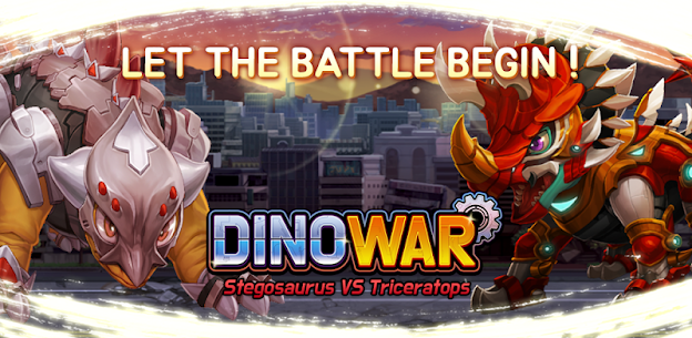 Dino War Stego VS Triceratops Online Hack Android & iOS 1