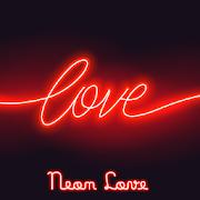 Cool Wallpaper Neon Love Theme