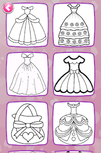 Glitter Dresses Coloring Book - Drawing pages 7.0 Screenshots 2