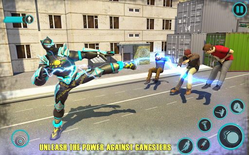 Flying Panther Robot Hero Game:City Rescue Mission apkdebit screenshots 2