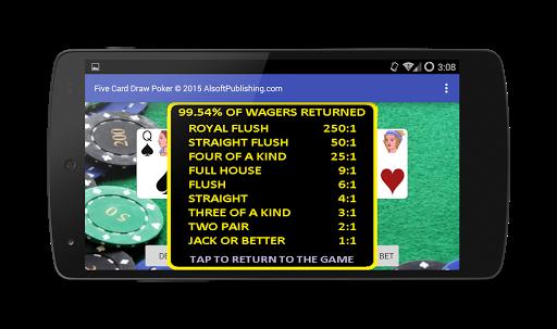Five Card Draw Poker 1.20 screenshots 7