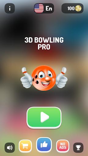 Télécharger Gratuit 3D Bowling Pro -simple et facile, avec dix quilles  APK MOD (Astuce) screenshots 1