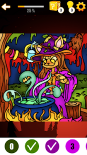 Halloween Art Game - Halloween Color By Number